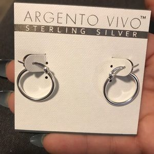 Argento Vivo sterling silver small hoops